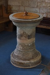 205-20180714_Weston under Penyard Church-Herefordshire-N Aisle, E end)-late 17th cent Font (Nick Kaye) Tags: westonunderpenyard herefordshire england church font