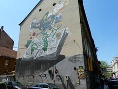 Street art in Sarajevo (artists: Boris Stapic and Aleksandar Sasa Brezar) (chibeba) Tags: sarajevo bosnia herzegovina bosniaherzegovina europe city capital spring travel 2019 may vacation holiday break art street colour mural walls graffiti urban fuu karimzaimovic festival streetart