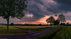 High Dramatic Sky (andreasmally) Tags: sky himmel clouds wolken sunset fürstenau street strase landschaft landscabe wetter weather