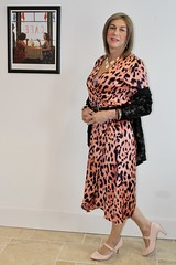 IMG_6498 (bethany_labelle) Tags: satin wrap dress silky animal print leopard trans crossdresser genderfluid mary janes heels