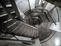 down the stairs (jkatanowski) Tags: urbex urban exploration europe poland lost lostplace stairs staircase indoor pov abandoned forgotten decay architecture