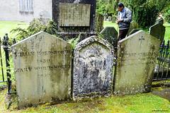 I Wandered Lonely As  A Cloud (gabi-h) Tags: williamwordsworth gravestones headstone cemetery graveyard churchyard gabih grasmere england unitedkingdom uk memories memorial tourist grass spring marywordsworth fence fencefriday