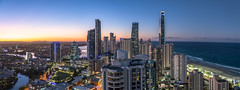 Sunset skyline (m0mbasa) Tags: sunset australia landscape panorama city nikon