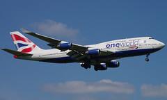 G-CIVK (a) 03/05/14 Heathrow (EGLL) (Lowflyer1948) Tags: gcivk boeing b747436 030514 heathrow thehill oneworldbritishairways