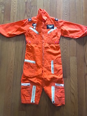 My Flight Suit from the Barrons (giveawayboy) Tags: flightsuit snoopy barrons redbaron orange zippers