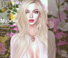 """=DeLa*= new hair """"Mabelle"""" (=DeLa*=) Tags: dela hair fitted rigged mesh materials new tres chic secondlife secondlifefashion sl slhair style"""