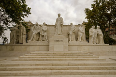Grounds of Parliament Budapest 2 (rschnaible) Tags: budapest hungary europe parliament building architecture grounds statue monument
