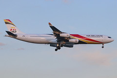 OO-ABD | Airbus A340-313 | Air Belgium (opf LOT) (cv880m) Tags: jfk kjfk kennedy johnfkennedy aviation airliner airline aircraft airplane jetliner airport ooabd airbus a340 3434 340300 340313 airbelgium belgium lot charter europe