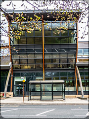 Durham University. (CWhatPhotos) Tags: cwhatphotos photographs photograph pics pictures pic picture image images foto fotos photography that have which with contain durham city day out about around may 1st 2019 durhamuniversity university building bus stop front windows wooden frame