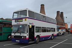 First Potteries 30031 G755XRE (Will Swain) Tags: gladstone pottery museum during pmt running day 21st october 2018 stokeontrent stoke trent potteries preserved heritage bus buses transport travel uk britain vehicle vehicles county country england english first 30031 g755xre 755