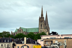 Last Look at Chartres Cathedral (jjldickinson) Tags: nikond3300 100d3300 nikon1855mmf3556gvriiafsdxnikkor promaster52mmdigitalhdprotectionfilter chartres france chartrescathedral cathédralenotredamedechartres cathedral tower
