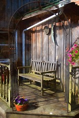 A Bench With A Porch-HBM! (☼It Finally Feels Like Spring!!☼) Tags: benchmonday bench porch bakersacres plantnursery ithacany