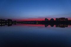 Nightfall (gubanov77) Tags: twilight dusk nightfall night skyline water borisovpond orekhovoborisovo moscow russia city urban cityscape blue