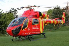 G-EHEM Essex & Herts Air Ambulance (kertappa) Tags: img8260 air ambulance herts hertfordshire essex hems doctor paramedics hospital gehem emergency helicopter harwoods adventurous playground watford