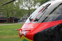 London's Air Ambulance in Shepherds Bush (kertappa) Tags: img7333 air ambulance londons london hems doctor paramedics hospital gehms emergency helicopter kertappa shepherds bush green
