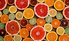 Citrus Flat Provia (Packing-Light) Tags: 35mm fujichrome nikonf6 provia provia100 rdpiii analog chrome film slide transparency washington dc fruit lemon lime orange grapefruit tangerine circle citrus food