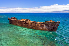 Shipwrecked! (RaulCano82) Tags: lanai hawaii hi usa pacific ocean beach ship shipwreck raulcano mavicair mavic air drone boat waves shipwreckbeach island reef polarizer blue water rusty rust decay old wwii ww2 tanker marine sea yogn42