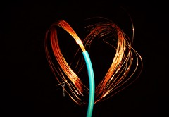 Copper Heart ❤..x (Lisa@Lethen) Tags: cable wire copper blue plastic macro macromondays hmm mm happymacromondays