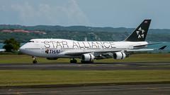 HS-TGW - Star Alliance (Thai Airways International) - Boeing 747-4D7 (bcavpics) Tags: hstgw staralliance thaiairwaysinternational boeing 747 744 jumbo jet aviation aircraft airliner airplane plane wadd dps ngurahrai denpasar bali indonesia bcpics