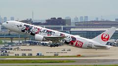 Boeing 767-346/ER, JA602J, Japan Airlines (JAL Dream Express 90 Livery) (tkosada.mac) Tags: jaldreamexpress mickeymouse japanairlines oneworld tokyointernationalairport hanedaairport hnd rjtt