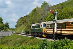 "Main Line Certified British Railways Green Liveried Class 33/0, D6515 ""Lt Jenny Lewis RN"" (37190 ""Dalzell"") Tags: br britishrailways green birminghamrailwaycarriagewagonco brcwco sulzer crompton class33 class330 d6515 ltjennylewisrn 33012 swanagerailway dieselgala corfecastle"
