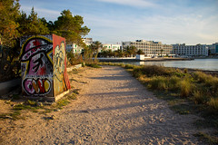 Beach Graffiti (Shaun Grist) Tags: ibiza