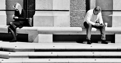 We Need Some Space (jaykay72.) Tags: london uk street candid streetphotography paternostersquare stphotographia blackandwhite bw