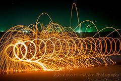 Southern lights (Chrisseee) Tags: steelwool spiral fire fishingboat horizon kohlanta krabi thailand beach evening orange sparkle longexposure