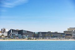 Palace of congresses in the bay of Palma. Majorca (Sebas Adrover) Tags: balearic island mallorca marine nautical palma sea coast littoral mediterranean spain town palm panoramic touristic building urban harbor port downtown landscape landmark yacht aerial city tourism travel cathedral architecture capital old lagoon beautiful panorama church famous vacation summer view bay water sky majorca europe coastline cityscape seaside spanish culture majestic