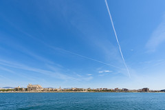 Panorama of the Bay of Palma de Mallorca (Sebas Adrover) Tags: balearic island mallorca marine nautical palma sea coast littoral mediterranean spain landscape travel marinelife scene church landmark old capital europe palmademajorca city scenic architecture marina over nature town water vacation urban view cityscape beautiful summer islands majorca house background port park palmademallorca tourism cathedral blue harbor bay panorama skyline building