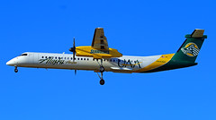 University of Alaska Anchorage Seawolves (planephotoman) Tags: 7315pdx bombardier dhc8400 dhc8402 q400 n443qx uaa universityofalaskaanchorage seawolves horizonair alaskaairlines airline airliner pdxaircraft portlandinternationalairport pdx kpdx