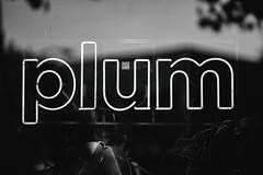 Plum Bar (Thomas Hawk) Tags: america bayarea california eastbay northerncalifornia oakland plumbar sfbayarea usa unitedstates unitedstatesofamerica westcoast bar bw neon norcal plum restaurant fav10