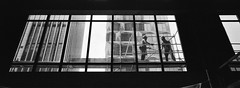 scaffold workers (stevenwonggggg) Tags: xpan hasselblad film lomography bw scaffold worker urban street blackandwhite analog is awesome photography dead ishootfilm istillshootfilm i love 35mm negative panorama pano panoramic 45mm f4
