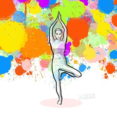 Creative tree Yoga Pose with colorful background (Hebstreits) Tags: activity adults background balance beauty blonde body cartoon character colorful coloring concept creative design doodle exercise female figure fitness girl health healthy illustration isolated lifestyle logo meditating meditation pattern people person pink pose position poster relaxation shape silhouette sport stretch studio style training tree vector vertical white woman yoga young