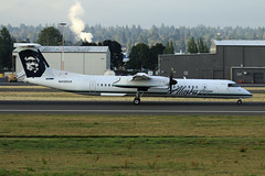 N408QX (planephotoman) Tags: bombardier dhc8400 dhc8402 q400 n408qx horizonair alaskaairlines airline airliner pdxaircraft portlandinternationalairport pdx kpdx