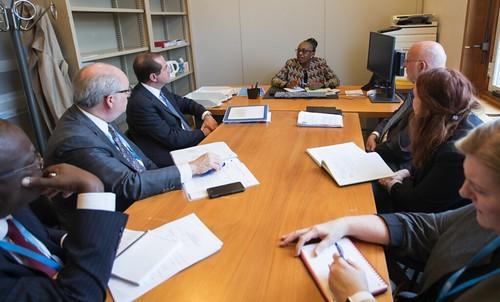HHS Secretary Azar Meets with WHO's Dr Matshidiso Moeti