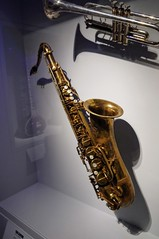 Clarence Clemons Saxophone (edenpictures) Tags: playitloud instrumentsofrockroll metropolitanmuseumofart themet exhibit exhibition show musicalinstrument estreetband