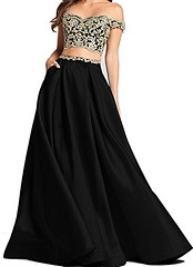 Black And Gold Two Piece Prom Dress Shop Now   Prom Dress Hut (promdressesjvn) Tags: jovani prom dress pageant dresses sexy night gown uk