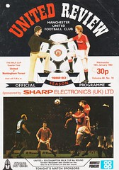 Manchester United vs Nottingham Forest - 1983 - Cover Page (The Sky Strikers) Tags: manchester united nottingham forest milk cup road to wembley old trafford review official season programme 30p