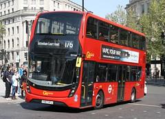 20190422 - 4055 - Go-Ahead - London Central - Enviro 400 MMC - No EH164 - Route 176 - Trafalgar Square (adj Whitehall) - London (Paul A Weston) Tags: eh164 enviro400mmc goahead londoncentral trafalgarsquare london route176