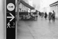 Indicazioni turistiche (sirio174 (anche su Lomography)) Tags: zorki4 ilfordfp4 cartello indicazionituristiche como italia italy turismo freccia arrow informazioni