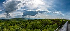 Baumwipfelpfad im Steigerwald - Panorama 5702 (Peter Goll thx for +13.000.000 views) Tags: steigerwald ebrach baumwipfelpfad 2016 bayern deutschland natur nature landscape landschaft nikkor nikon d850 1424mm panorama cloud wolke sky himmel