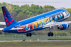 Brussels_A320_OO-SND_20190520_HAM-2 (Dirk Grothe | Aviation Photography) Tags: brussels a320 oosnd ham smurf