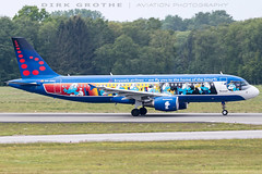 Brussels_A320_OO-SND_20190520_HAM-1 (Dirk Grothe | Aviation Photography) Tags: brussels a320 oosnd ham smurf