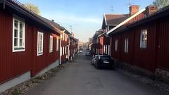 The Engelbrektsgatan Street (halleluja2014) Tags: conservative idyll peace evening april spring engelbrektsgatan road gata street sweden dalarna falunred falured falurött östanfors falun