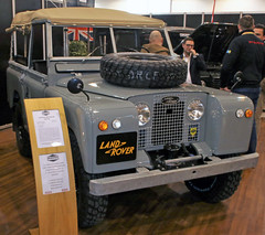 Classic Landy (Schwanzus_Longus) Tags: techno classica essen german germany uk gb great britain british england english old classic vintage car vehicle 4x4 awd 4wd offroad offroader land rover 88 series iia
