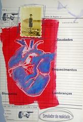E (Regina Marcis) Tags: coração pintura com giz pastel fotografia antiga carimbos