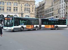 MAN Lion's City G articulated bus, # 4739, Régie Aautonome des Transports Parisiens, additionnal Île de France Mobilités markings, dowtown Paris, close by St Lazare railways station, 2019-05-05. (alaindurandpatrick) Tags: man manlionscity buses masstransit masstransitcompanies ratp régieautonomedestransportsparisiens îledefrancemobilités masstransitauthorities paris 75 seine greaterparisarea îledefrance france articulatedbuses