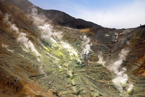 O-wakudani volcanic valley / 大涌谷