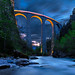 Landwasser Viaduct blue hour